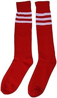 Eforstore Classic School Stripe Knee High Socks Unisex Athletic Sports Soccer Football Rugby Tube Socks