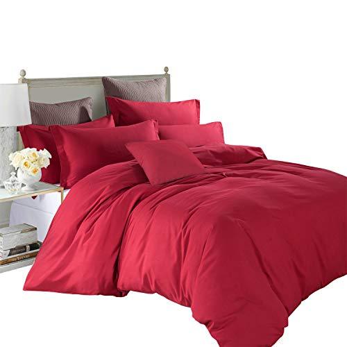 Imperial Rooms Glamorous Luxury Plain Dyed Duvet set Quilt Duvet Cover...