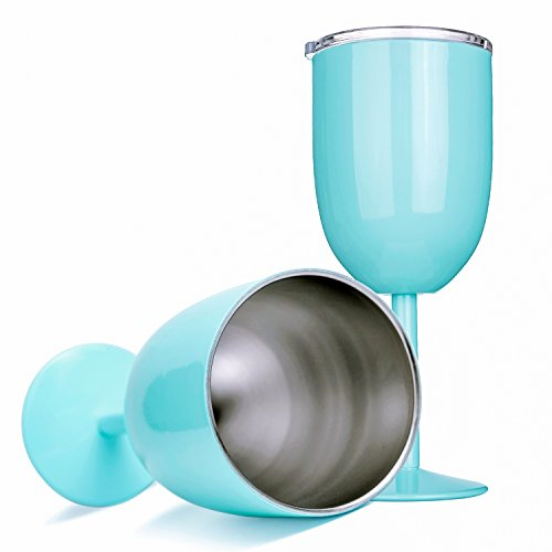 - Amzyt Wine Glass Stainless Steel, Double Walled Design With Resistant Lid, Insulated Tumbler Keeps Cold For Hours, Unbreakable Food Grade Steel make Portable Outdoor Travel Goblet
