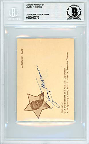 Jimmy Thomson Signed Auto 3x4 Autograph Card - Beckett Authentic from Sports Collectibles Online