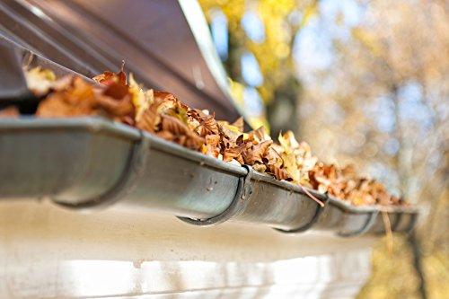 HaGa/® Dachrinnenschutz Laubfang Laubstopp 100mm-125mm 1m lang in braun