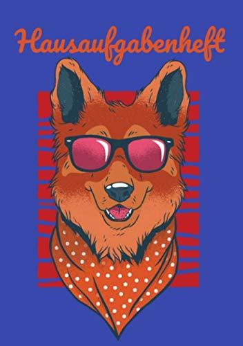Hausaufgabenheft: Hund Schäferhund Cool Sonnenbrille - Praktisches Hausaufgabenheft für die Grundschule im A5-Format (German Edition) (Sonnenbrillen Junge)