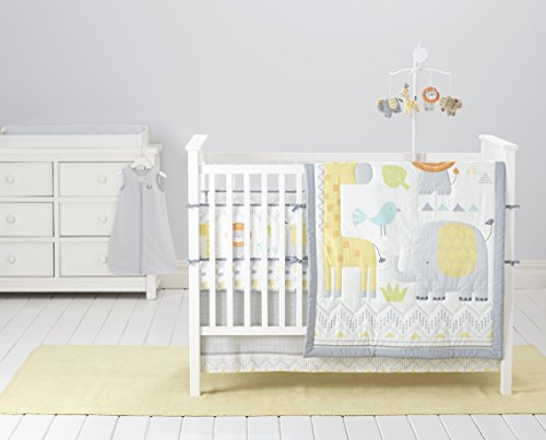 Cuddletime Globetrotter 6 Piece Bedding Collection, (Safari Nursery Bedding)