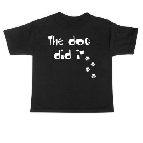 Rebel Ink Baby 357tt2T The Dog Did It - 2T - Toddler Tee Shirt from Rebel Ink Baby