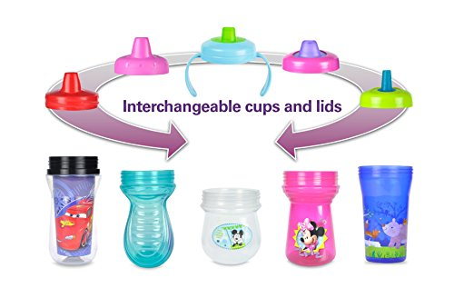 The First Years Baby Mickey Mouse Flip Top Straw Cup, 10 oz, 1 pack by The First Years (Image #2)