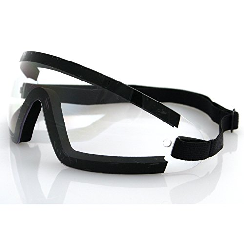 Bobster BW201C Wrap Around Goggles, Black Frame/Clear Lens ()
