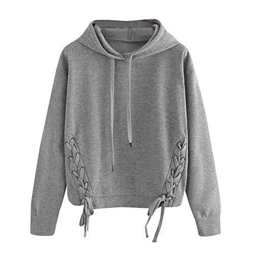 Rambling New Women's Hoodies Braided Sweatshirt, Casual Long Sleeve Pullover Blouse Shirts