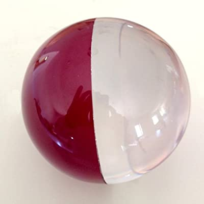 Zeekio Contact Juggling Ball - Two Tone - 100 mm - Acrylic - Clear/Maroon: Everything Else