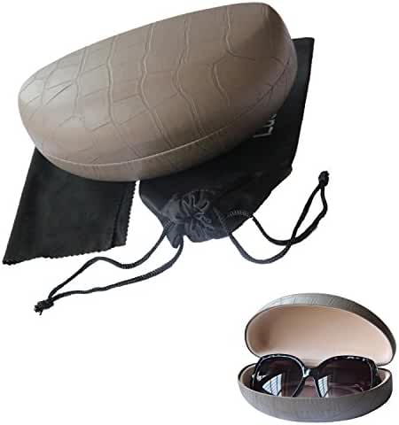 Lucky Leaf Extra Large Frames Sunglasses Goggles Case Hard Shell Eyewear Glasses Case
