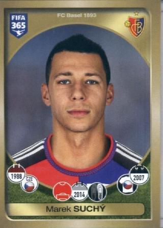 fan products of 2016-17 Panini FIFA 365 #217 Marek Suchý FC Basel 1893 Soccer Sticker