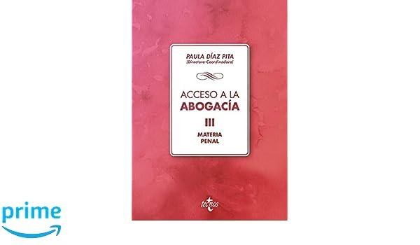 Materia penal Derecho - Biblioteca Universitaria De Editorial Tecnos: Amazon.es: Mª Paula Díaz Pita, Alicia González Monje, Maravillas Hernández López, ...