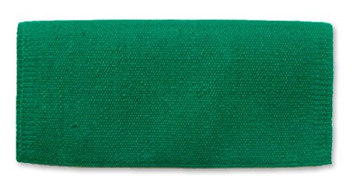 Blanket Contour Saddle - Mayatex San Juan Solid Saddle Blanket, Kelly Green, 36 x 34-Inch