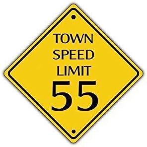 dise/ño de Animales QSLM Town Speed Limit Y-01 Se/ñal de Advertencia de tr/áfico de 55 mph 30CMx30CM 30 x 30 cm