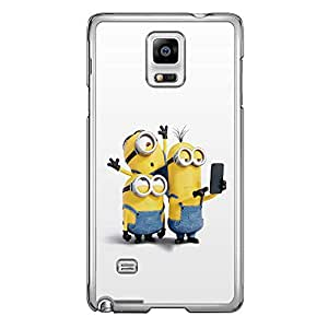 Loud Universe Samsung Galaxy Note 4 Files Minion 17 Printed Transparent Edge Case - Multi Color