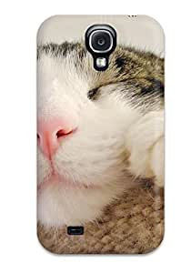 Flexible Tpu Back Case Cover For Galaxy S4 - Lazy Cat