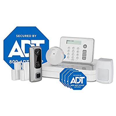 HD Video Doorbell Camera System from LifeShield, an ADT Company - 8-Piece Easy, DIY Smart Home Security System - Optional 24/7 Monitoring - No Contract - Wi-Fi Enabled - Alexa Compatible