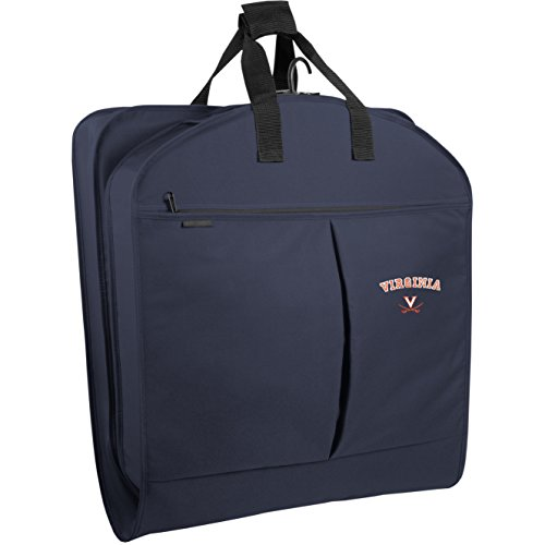 WallyBags Virginia Cavaliers 40 Inch Suit Length Garment Bag with Pockets, Navy, One Size