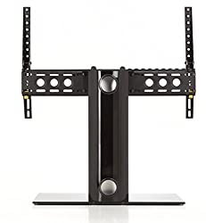 Avf B601bb-a Universal Table Top Tv Stand Tv Base - Adjustable Tilt - Fits Most 46 To 65-inch Tvs - Black