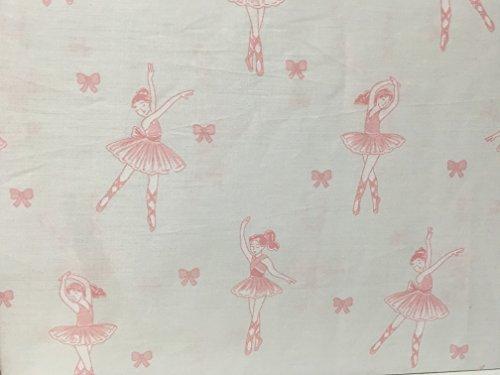 Adores Ballerina & Bows Twin Sheet Set Ballet - Pink on White - 100% Cotton by Adorbs