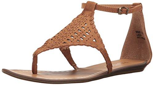 Report Women's Ladon Flat Sandal, Tan, 8 M US (Shoes Womens Report Flat)