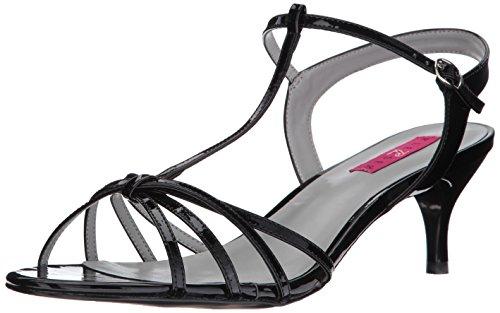 Kitten-06 Finish Sandale mit T-Riemen Absätzen und kurzen schwarze - (40 EU = US 10) - Pleaser Rosa-Aufkleber