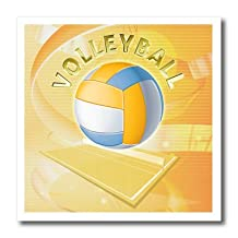 ht_21980_1 Boehm Graphics Sports - Volleyball - Iron on Heat Transfers - 8x8 Iron on Heat Transfer for White Material