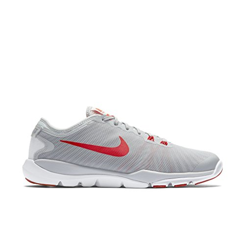 Nike Frauen Flex Supreme TR 4 Cross Trainer Cool Grey / Wolf Grey / Weiß / Bright Crimson
