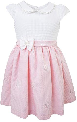 Lilax Little Girls' Short Sleeve Swing Pageant Gown Occasion Dress 3T Pink (School Girl Fancy Dress Ideas)
