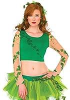 Rubie's Women's DC Comics Poison Ivy Crop Top