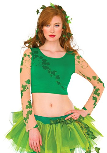 Rubie's DC Superheroes Long Sleeve Crop Top, Poison Ivy ()