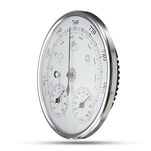 INNI Wall Hanging Weather Forecast Thermometer Hygrometer Air Pressure Meter-30~+50 0~100% Rh 960~1060hPa by INNI (Image #5)