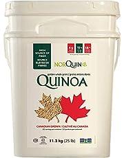 Bilingual NorQuin Golden Quinoa Pail 252 Servings / 11.3 kg - Big Bulk Bucket Great for Food Storage, Restaurants & Wholesale - Perfect Rice & Grain Alternative - Kosher Certified, Gluten Free, Non-GMO…
