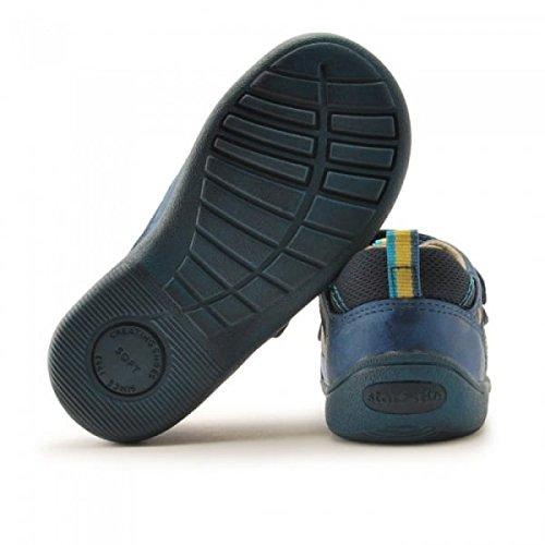 Start Rite Niños Zapatos de Casual SRSS Leo azul marino/verde azulado (Navy/Teal)