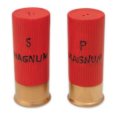 River's Edge 518 Ceramic Shot Gun Shells Shaped Salt and Pepper Shakers, Outdoor Stuffs