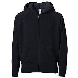 Lightweight Zip Up Fleece Hoodie for Boys Girls Toddlers