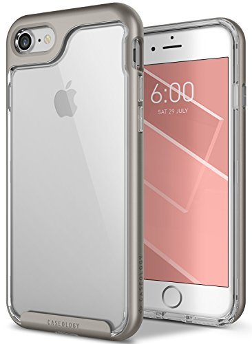 Caseology Skyfall Series iPhone 8 / 7 Cover Case with Clear Slim Protective for Apple iPhone 8 (2017) / iPhone 7 (2016) - Warm - Gray Transparent