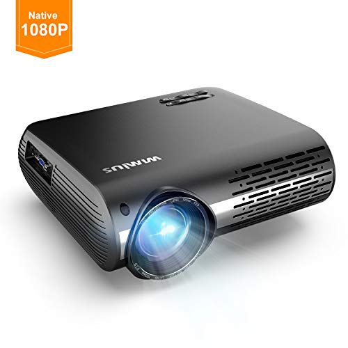 Projector, WiMiUS P20 Native 1080P LED Projector, 5000 Lux Movie Projector Support 4K Video 300″ Display ±50°Digital Keystone Correction 70,000 Hrs for Home Entertainment & PPT Business Presentation