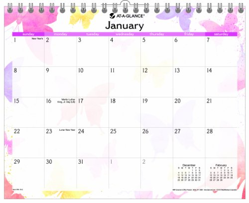 AT-A-GLANCE 2014 Watercolors Wall Calendar, 15 x 12 Inches (PM91-707) -