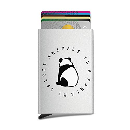 My Spirit Animals is a Panda Fashion Unisex Automatic Pop-Up Business Card Cases ID Card,Credit Card/Protective Cover]()