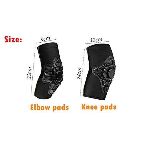 TY BEI Kneepad Kneepad - 2-10 Year Old Kids Cycling Knee Pad and Elbow Pads Balance Bike Children Protector Kneepad Guard Elbow Safety Equipment @@ (Color : Black) by TY BEI (Image #1)