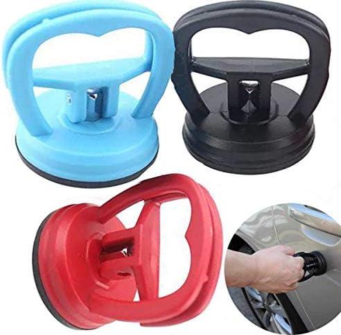Liuer 3 stuks deuktrekker auto deukzuignap auto body deuktrekker deuktrekker demontagegereedschap blauw zwart rood57 cmmaximale belasting 10 kg