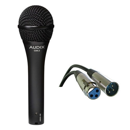 Audix OM2 Dynamic Hypercardioid Handheld Microphone with XLR- XLR Cable [並行輸入品] B07DZK93DW