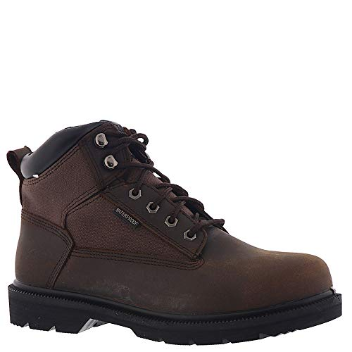 Skechers Work Relaxed Fit Makanix Mennot ST Steel Toe Mens Boots Brown 10
