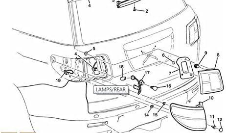 Amazon Com Genuine Gm 25954939 Tail Lamp Right Automotive