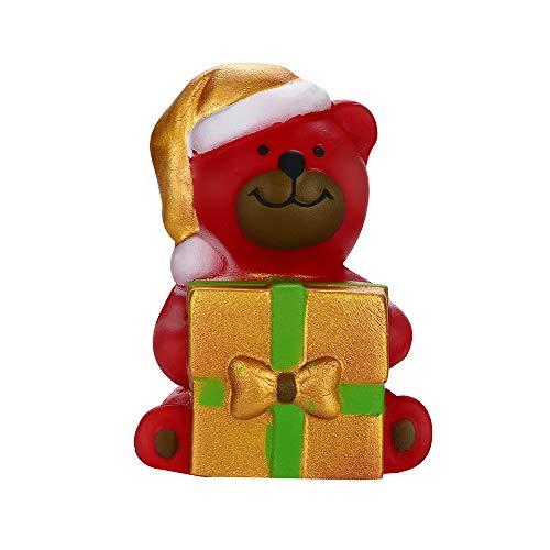 Wenini Christmas Bear Owl Slow Rising Toy, Squishies