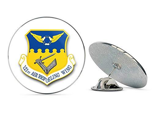 US Air Force 121st Air Refueling Wing Military Veteran USA Pride Served Gift Metal 0.75