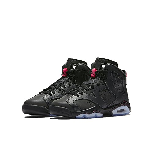 Air Jordan Little Kids Retro 6 Anthracite/Black/Hyper Pink/Black (13) by Jordan
