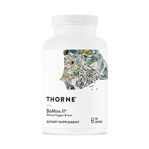 - Thorne Research - BioMins II - Comprehensive Multi-Mineral Supplement Without Copper and Iron - 120 Capsules
