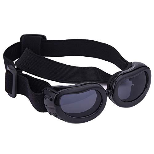 FidgetGear Dog Sunglasses UV Eye Protection Pet Puppy Goggles Sun Glasses Wear XXXS/XXS/XS Black XS - 719 Glasses