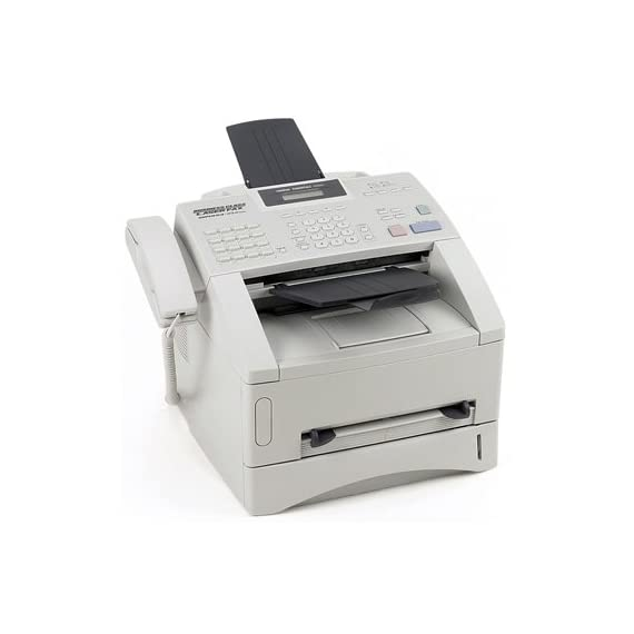 Brother FAX4100E IntelliFax Plain Paper Laser Fax/Copier 2 Black-and-white laser fax machine also copies and prints. Operating Environment: Temperature 50-90.5 degrees Fahrenheit Fax transmission speeds up to 3 seconds per page.High speed 33.6K bps superG3 fax modem 600 x 600 DPI resolution for faxes, copies, and prints